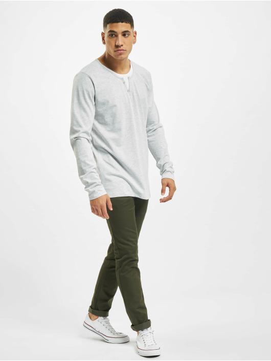 Urban Surface Maglietta a manica lunga Button grigio