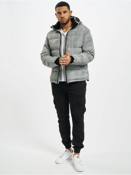 Urban Surface Puffer Jacket Checked black