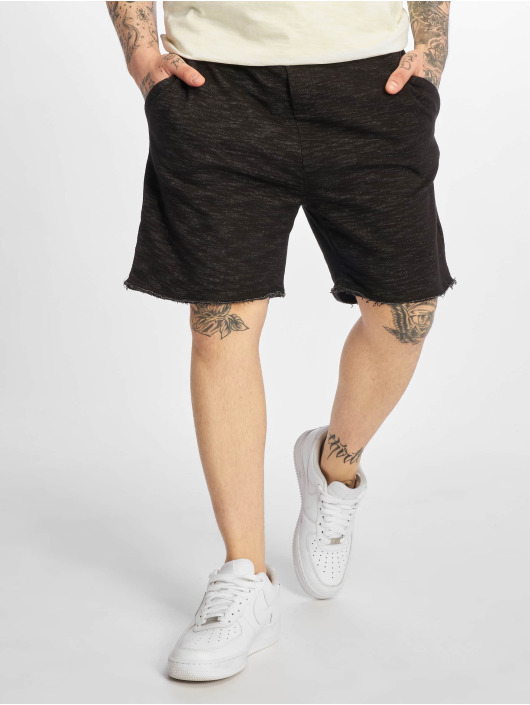 Urban Surface Bermuda Sweat Shorts Black Melange