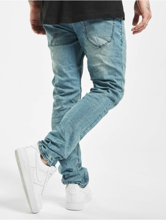 Urban Surface Slim Fit Jeans Stone Washed blå