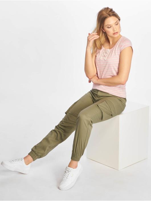 Urban Surface T-Shirt Stripe rosa