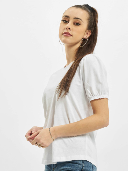 Urban Surface T-Shirty Ruffles bialy