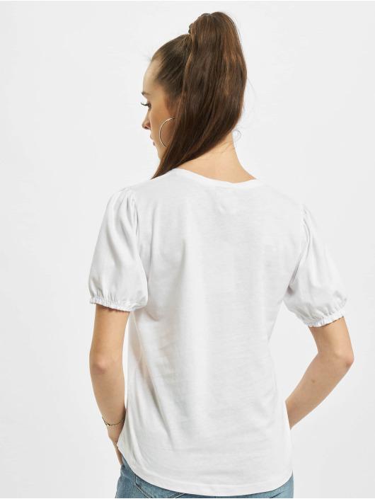 Urban Surface T-Shirty Ruffles bialy