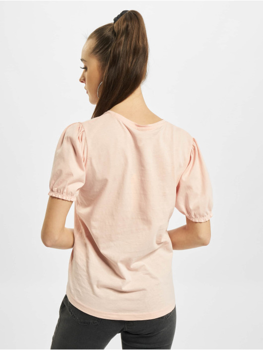 Urban Surface T-Shirty Ruffles rózowy