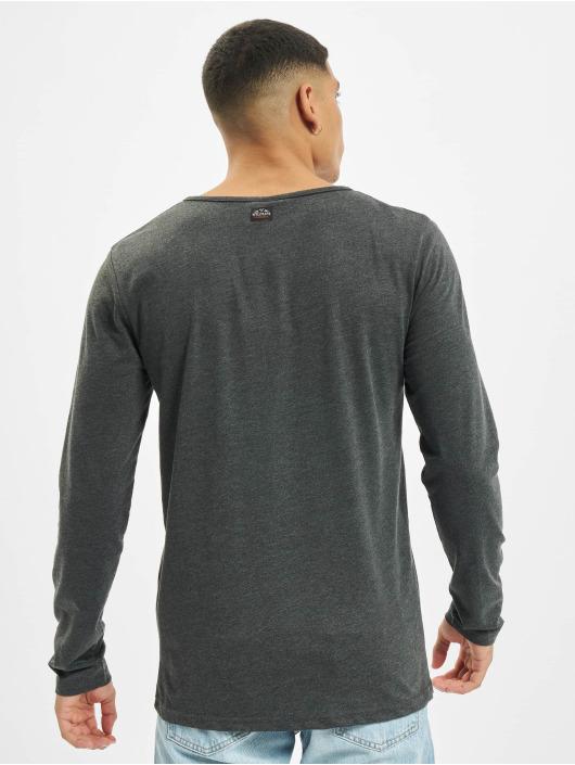 Urban Surface Tričká dlhý rukáv Button šedá