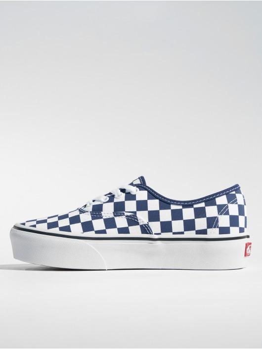 vans bleu femme