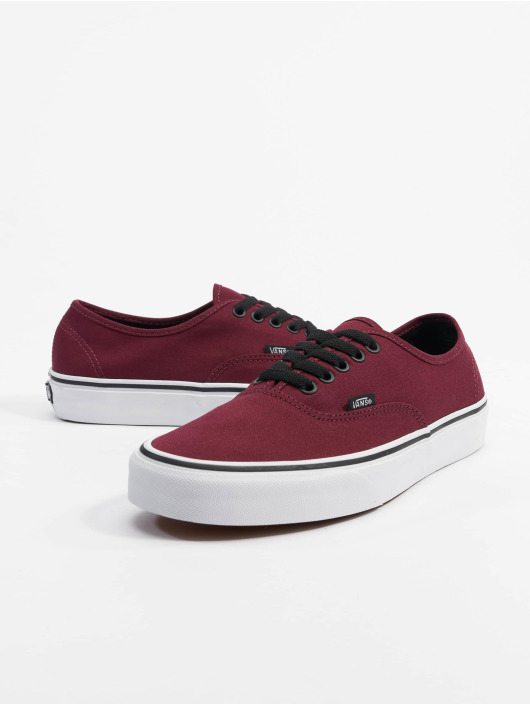 vans rouge authentic