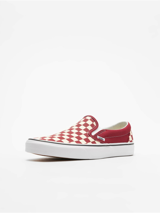 Vans UA Classic Slip-On Sneakers Checkerboard Rumba Red/White