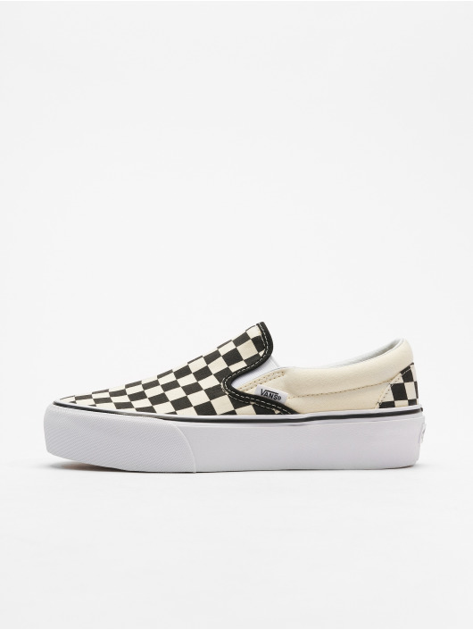 Vans Classic Slip-On Platform Sneakers Black/True White Checkerboard
