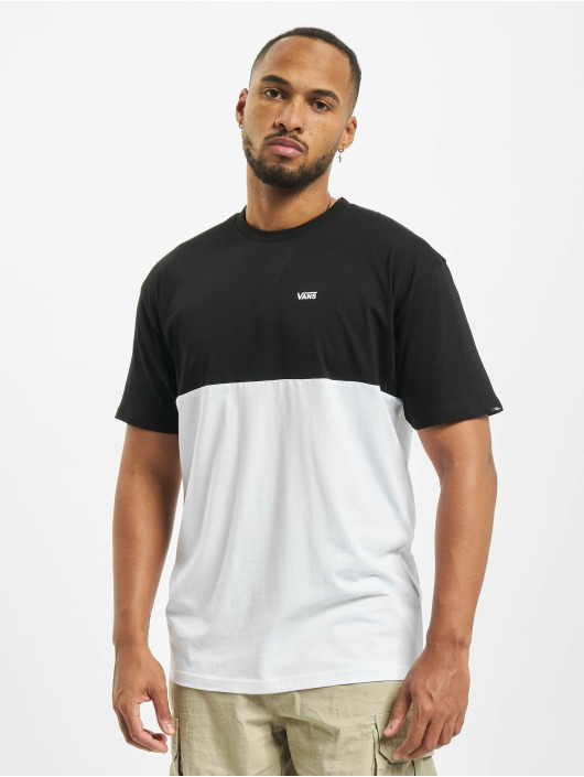 Vans T-Shirty Colorblock bialy