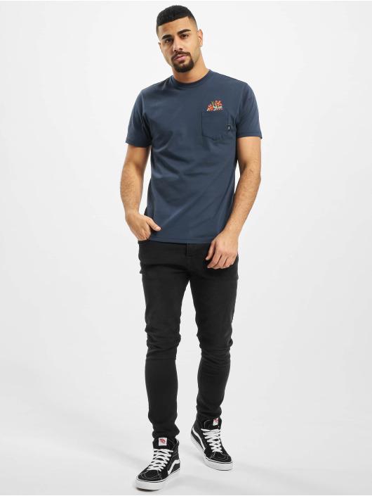 Vans T-Shirty Til Death Pocket niebieski