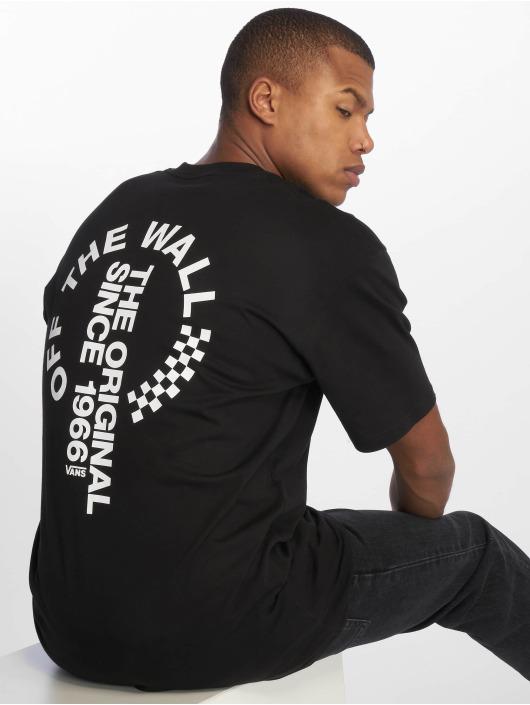 Vans T-skjorter Distort svart