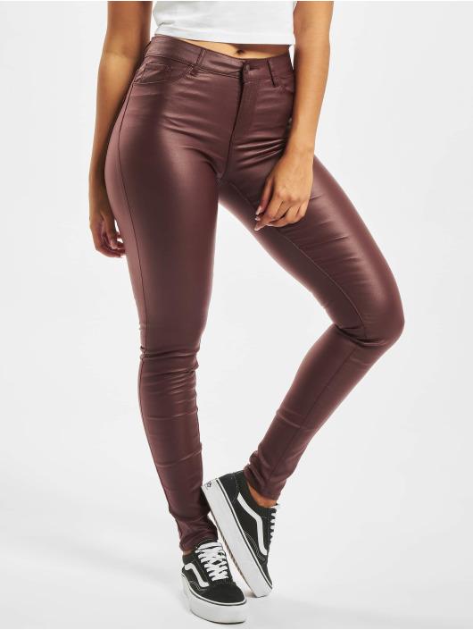 Vero Moda Skinny Jeans vmSeven Smooth hnědý