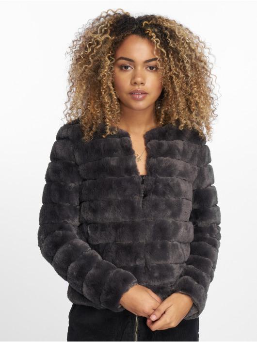Vero Moda Veste mi-saison légère vmAvenue Faux Fur Short gris