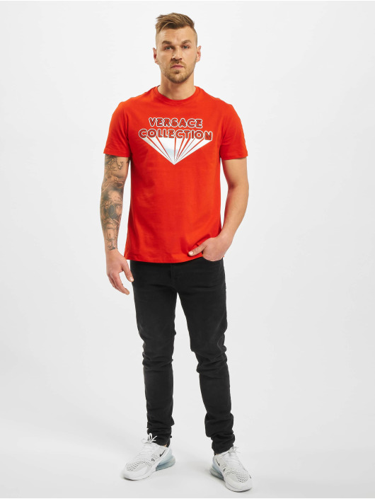 Versace Collection T-Shirty Versace Collection czerwony