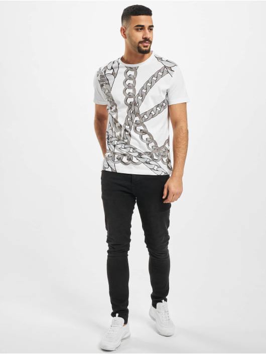 Versace Jeans T-Shirt Chain weiß