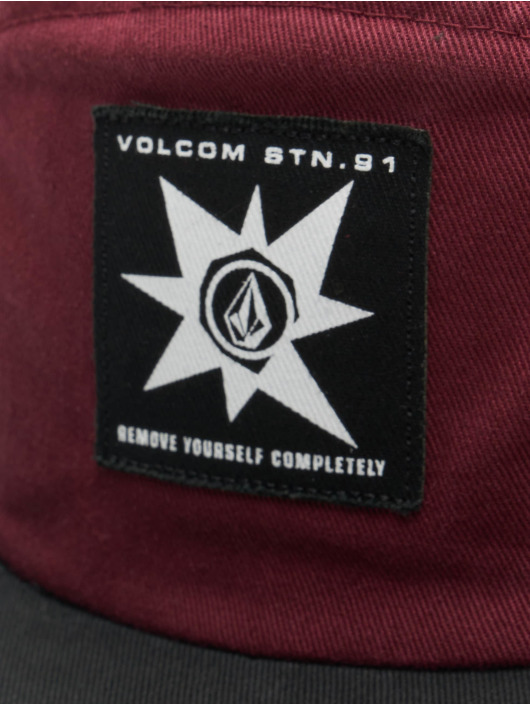 Volcom 5 Panel Caps Hat rot