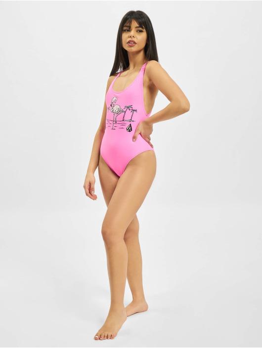 Volcom Bathing Suit Fresh Ink pink