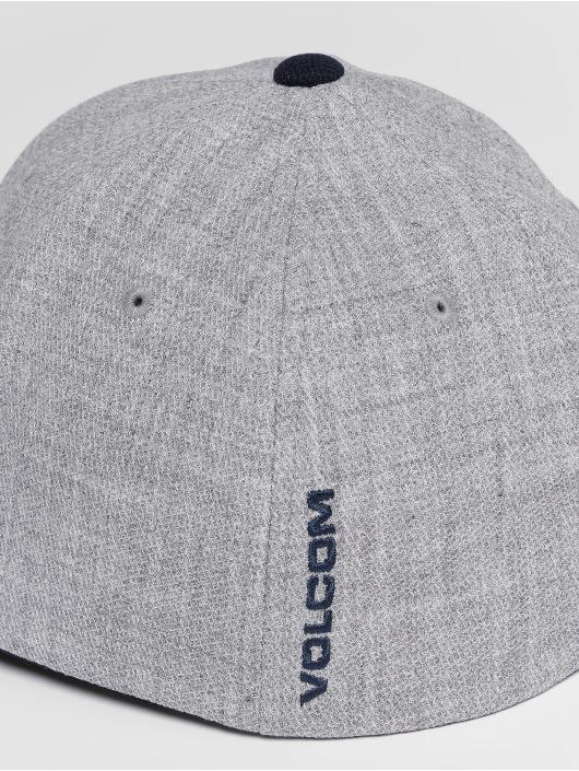 Volcom Casquette Flex Fitted Full Stone Hthr Xfit bleu