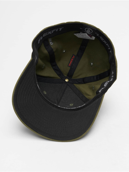 Volcom Flexfitted Cap Full Stone Hthr Xfit grün