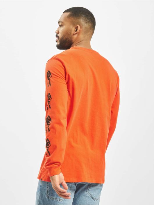 Volcom Langermet Peace Grid Bxy oransje