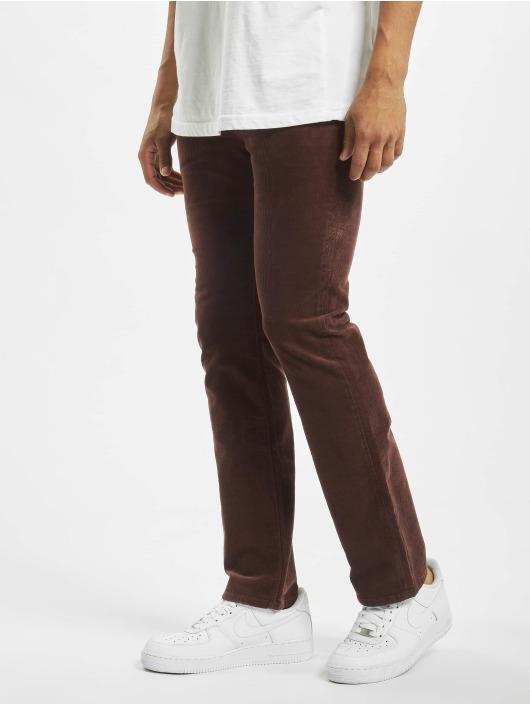 Volcom Menčestrové nohavice Solver 5 Pkt èervená