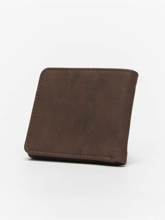 Portemonnee Bruin.Volcom Accessoires Portemonnee Slim Stone Pu In Bruin 625360