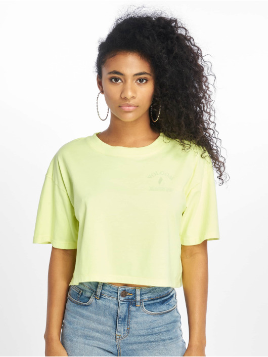 Volcom 627298 Neon On Jaune T shirt And Femme BeCdrxoW