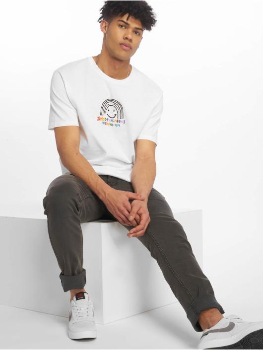 Volcom T-Shirty Ozzy Rainbow Basic bialy