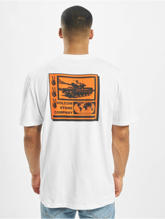 Volcom T-Shirty Peace Grid Bxy bialy