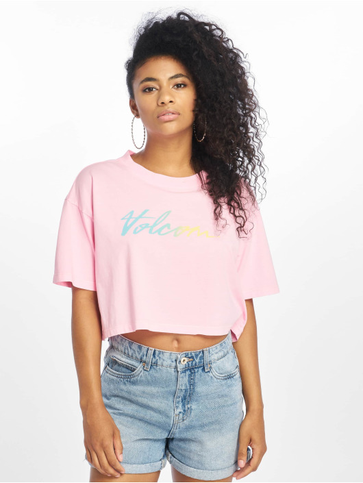 Volcom T-Shirty Neon And On rózowy