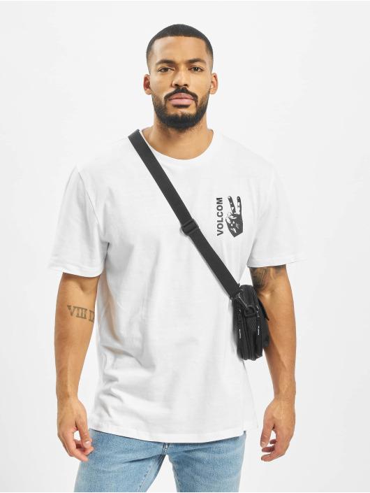 Volcom T-skjorter Peace Grid Bxy hvit