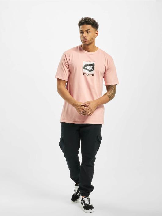 Volcom T-skjorter Reacher lyserosa