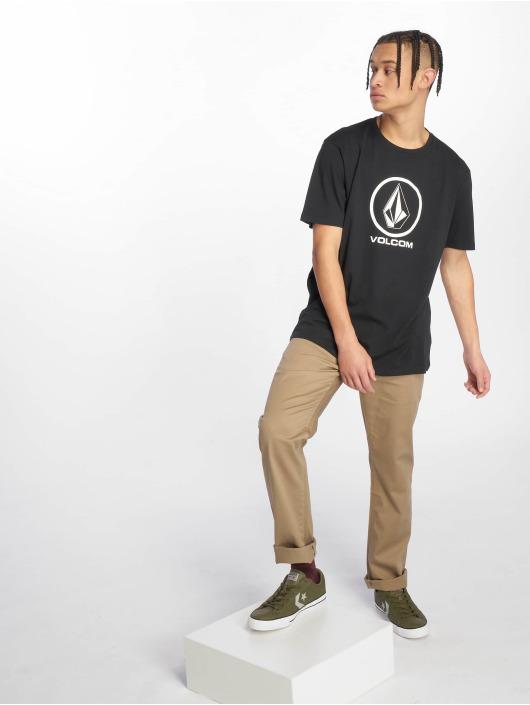 Volcom T-skjorter Crisp Stone svart
