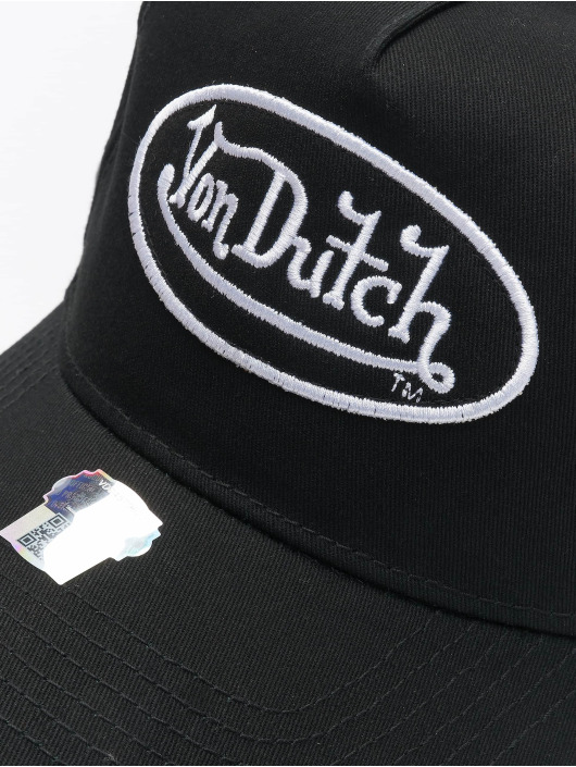 Von Dutch Snapback Caps Base musta