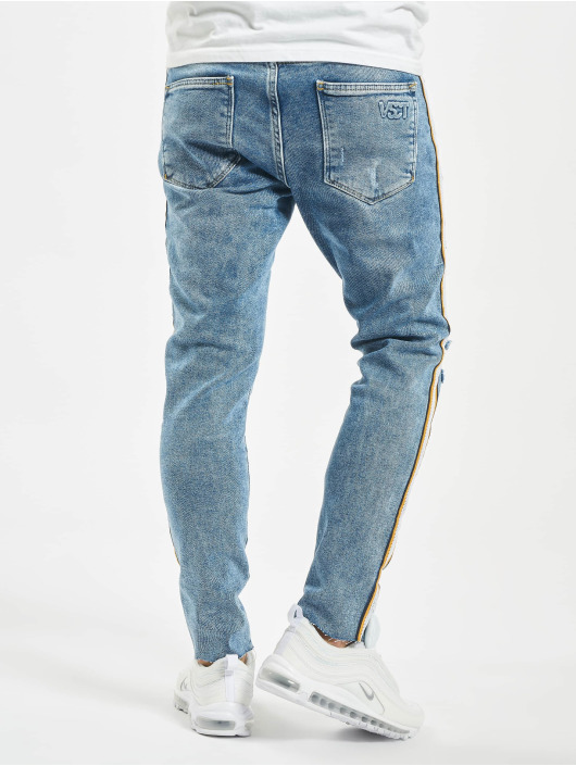 VSCT Clubwear Úzke/Streč Keanu Racing Stripe modrá