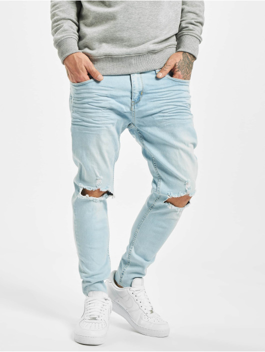 VSCT Clubwear Облегающие джинсы Knox Knee Cut синий