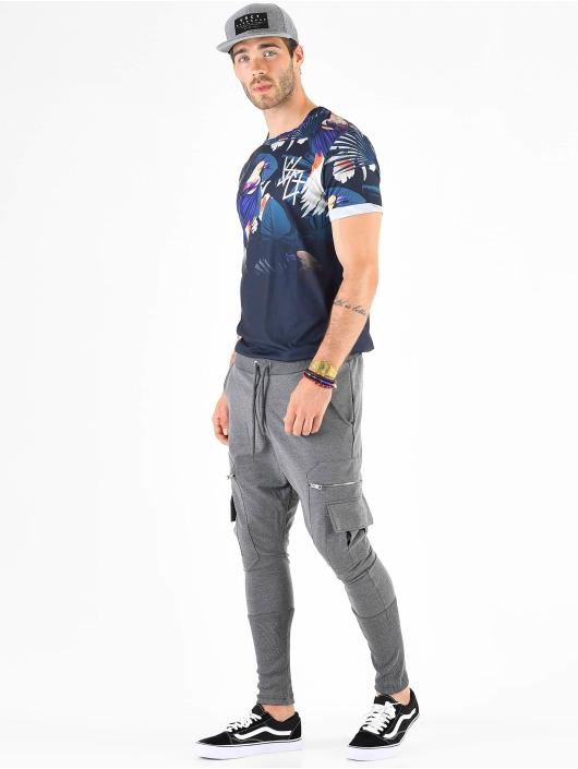 VSCT Clubwear Спортивные брюки Low Crotch Slim Leg Cargo серый