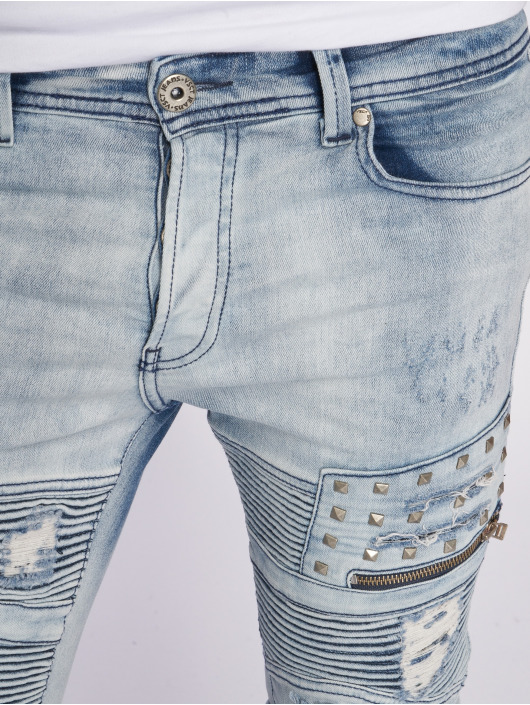 VSCT Clubwear Antifit New Liam Biker Denim modrá