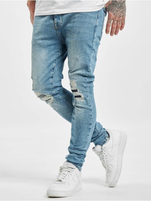 VSCT Clubwear Antifit Thor Slim 5 Pocket Destroyed modrá
