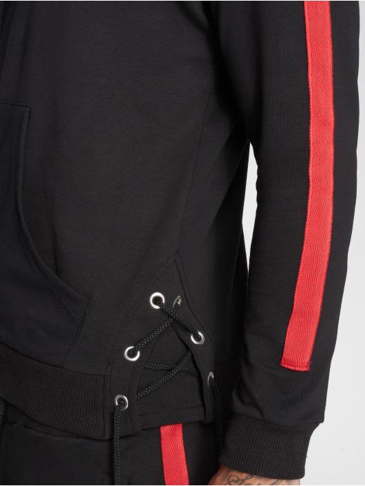 VSCT Clubwear Bluzy z kapturem Striped Laces czarny