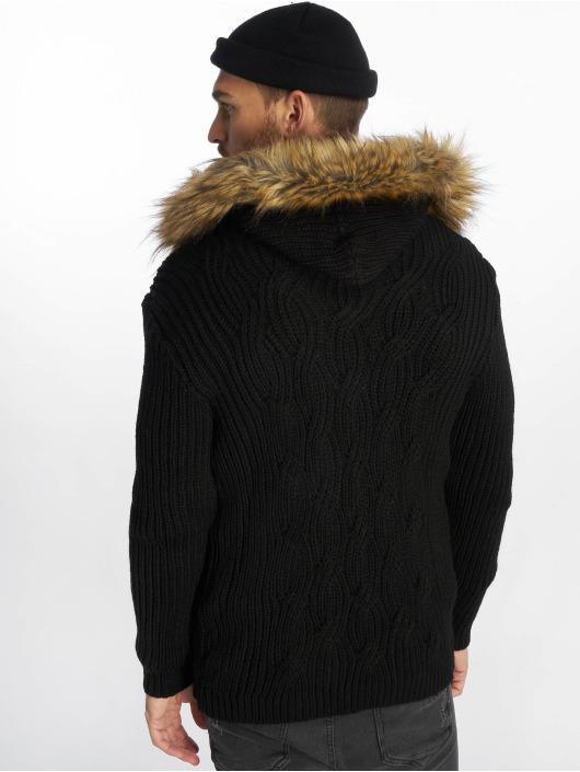 VSCT Clubwear Cardigan Hooded black