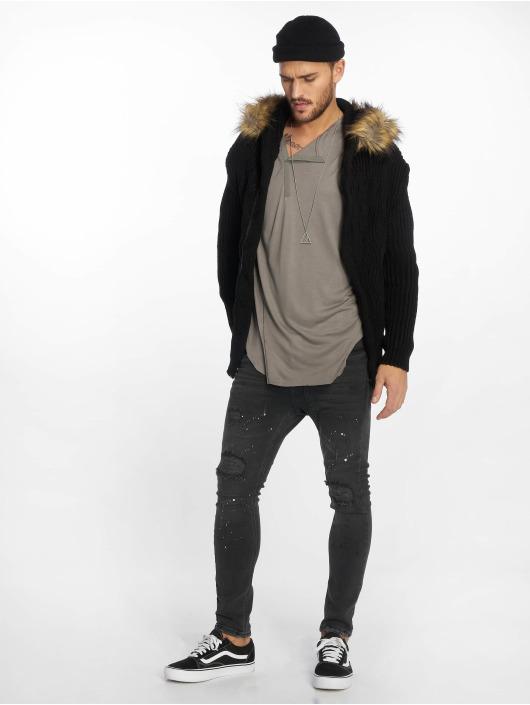 VSCT Clubwear Cardigan Hooded nero