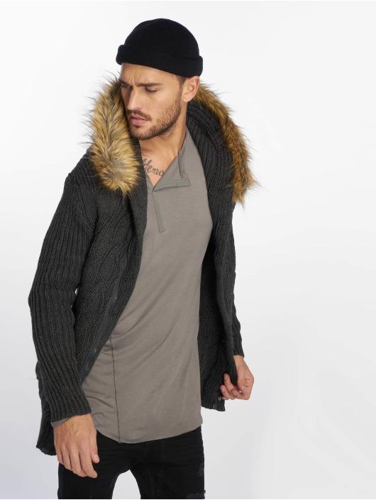VSCT Clubwear Cardigans Hooded Luxury Knit grå