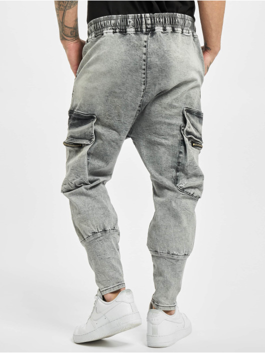 VSCT Clubwear Cargo Logan Antifit Denim šedá