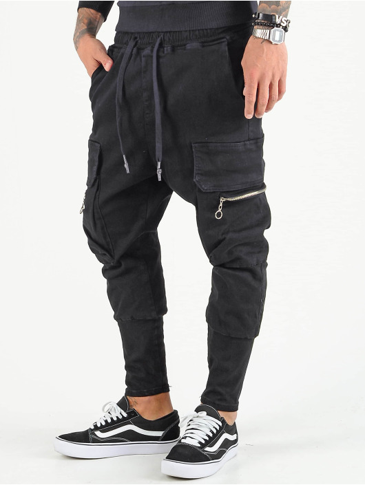 VSCT Clubwear Cargo pants Logan čern