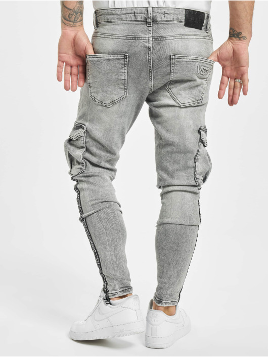 VSCT Clubwear Cargobroek Keanu Legbtmzip grijs