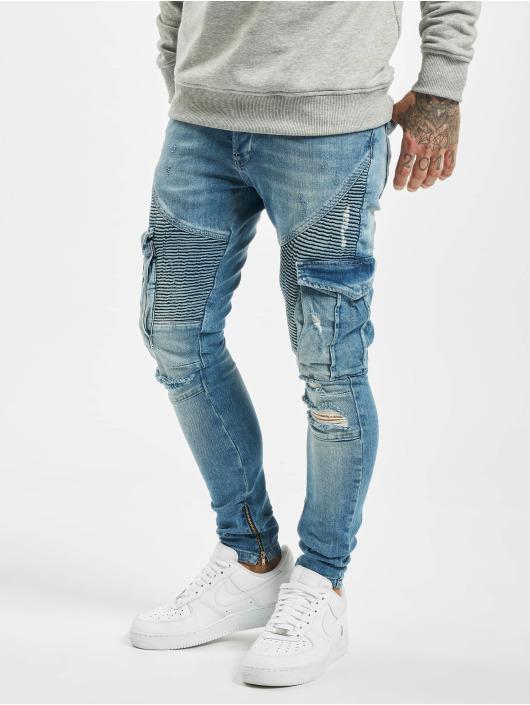 VSCT Clubwear Cargohose Keanu Denim Biker blau