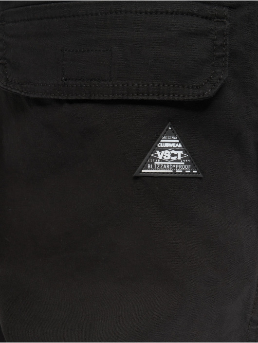VSCT Clubwear Cargohose Noah Gathered Leg schwarz