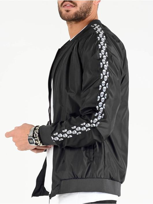 VSCT Clubwear Chaqueta de entretiempo Skull Striped negro